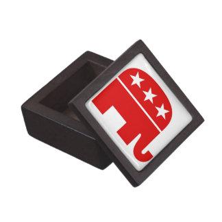Caja de regalo superior del elefante republicano cajas de joyas de calidad