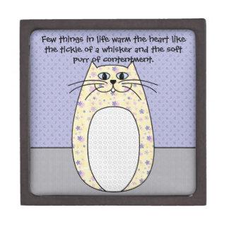 """Caja de regalo superior del """"gato amarillo"""" cajas de recuerdo de calidad"""