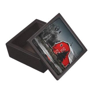 Caja de regalo superior del granero rojo espectacu caja de joyas de calidad