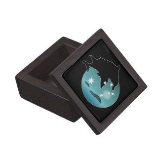 Caja de regalo superior del icono del delfín cajas de regalo de calidad