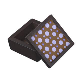 Caja de regalo superior del lunar azul cajas de recuerdo de calidad