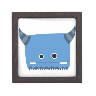 Caja de regalo superior del monstruo de cuernos az caja de joyas de calidad