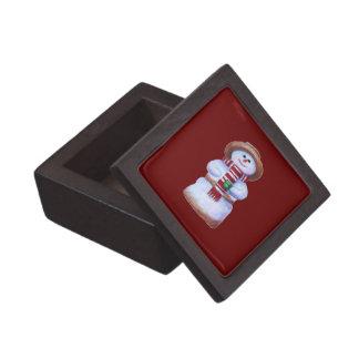 Caja de regalo superior del muñeco de nieve de la  cajas de joyas de calidad