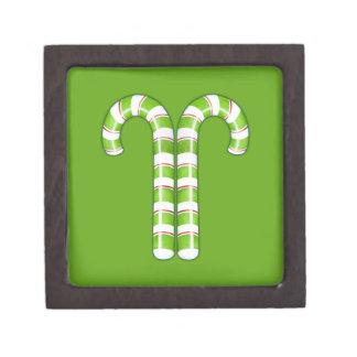 Caja de regalo superior del verde de los bastones  caja de regalo de calidad