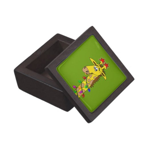 Caja de regalo superior divertida de la jirafa cap caja de recuerdo de calidad