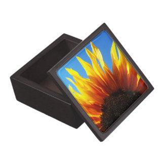 Caja de regalo superior en llamas del girasol caja de recuerdo de calidad