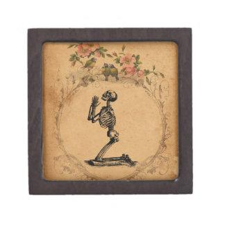 Caja de regalo superior esquelética del arrodillam caja de recuerdo de calidad