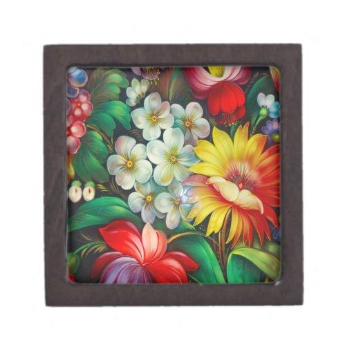 Caja de regalo superior floral caja de regalo de calidad