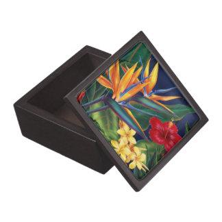 Caja de regalo superior floral hawaiana del paraís caja de joyas de calidad