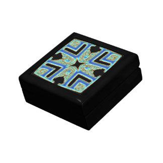 Caja de regalo superior modelada azul mezclado