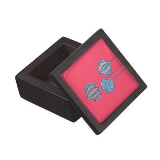 Caja de regalo superior roja de las bolas retras d caja de recuerdo de calidad