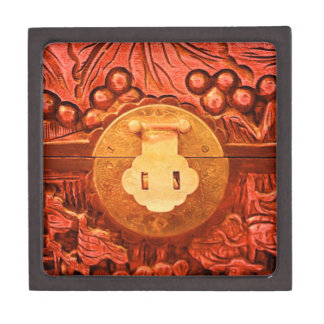 Caja de regalo superior tallada de la cerradura de cajas de joyas de calidad