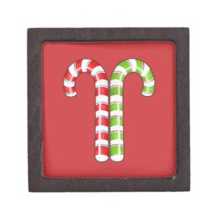 Caja de regalo superior verde roja de los bastones cajas de regalo de calidad
