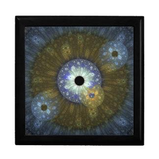 Caja de regalo terrosa del fractal