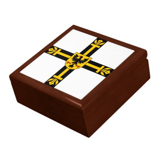 Caja de regalo teutónica de la orden joyero cuadrado grande