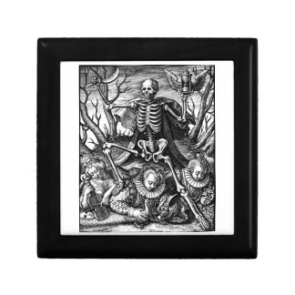 Caja de regalo triunfante de la muerte joyero cuadrado pequeño
