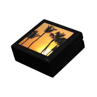 Caja de regalo tropical de la puesta del sol