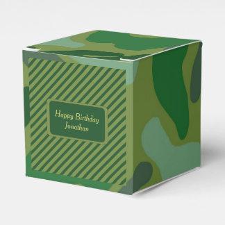 Caja de regalo verde de la fiesta de cumpleaños de cajas para regalos