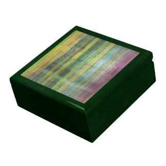 Caja de regalo verde del modelo de las rayas