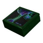 Caja de regalo (verde) multicolora de la C-espina