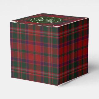 Caja de regalo verde y roja del favor de la tela caja para regalos
