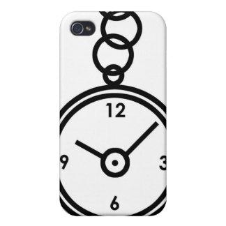 Caja de reloj de bolsillo iPhone 4 protectores
