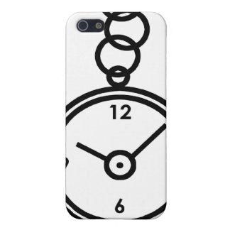 Caja de reloj de bolsillo iPhone 5 cobertura