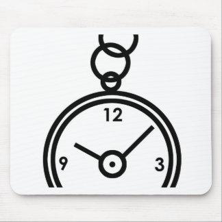 Caja de reloj de bolsillo tapetes de ratón