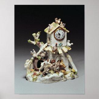 Caja de reloj del corral de la porcelana de Chelse Póster