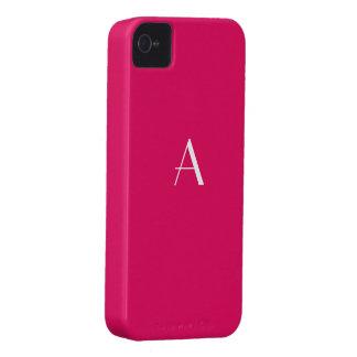 Caja de rubíes del monograma del color rojo Case-Mate iPhone 4 carcasas