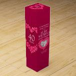 Caja de rubíes del vino de la foto del corazón del cajas para vino