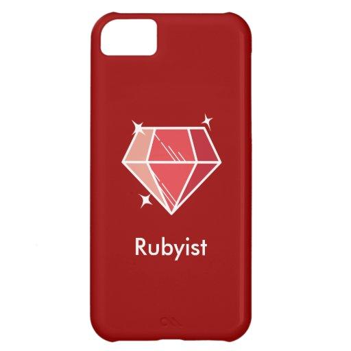 Caja de rubíes roja del iPhone 5 de Rubyist del fr