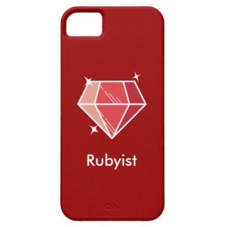 Caja de rubíes roja del iPhone 5 de Rubyist del iPhone 5 Funda