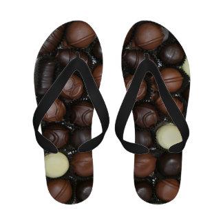 Caja de sandalias del flip-flop de los chocolates
