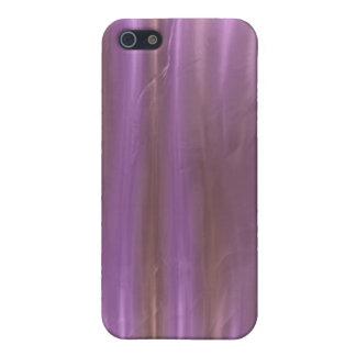 Caja de seda líquida rosada de color de malva del  iPhone 5 protectores