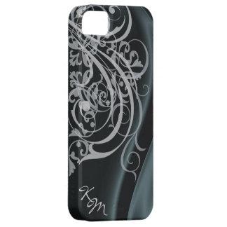 Caja de seda negra rococó de Barely There del vint iPhone 5 Case-Mate Coberturas