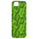 Caja de seda verde del iPhone 5 iPhone 5 Case-Mate Protectores
