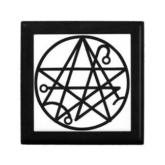 Caja de sello negra grande de Necronomicon Caja De Regalo