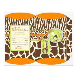 Caja de soplo anaranjada del muchacho del safari flyer a todo color