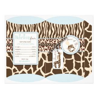 Caja de soplo del muchacho del safari tarjetón