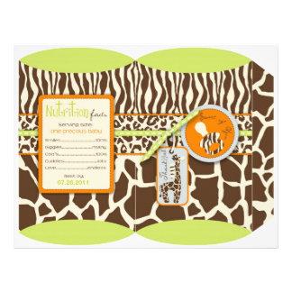 Caja de soplo del verde del muchacho del safari tarjetas publicitarias