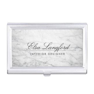 Caja de tarjeta de lujo de mármol blanca moderna cajas de tarjetas de visita