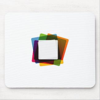 Caja de texto colorida mousepad