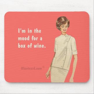 caja de vino tapetes de ratón