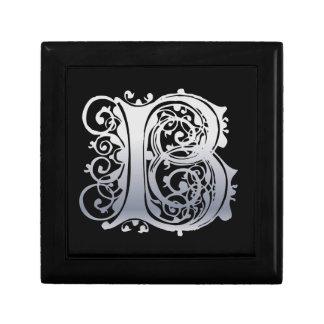 Caja decorativa del cordón de B del monograma del  Cajas De Regalo
