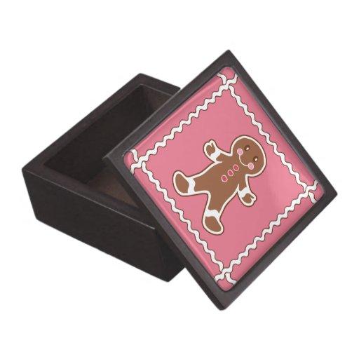 Caja decorativa del muchacho del pan de jengibre cajas de recuerdo de calidad