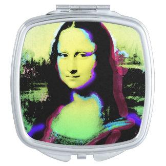 Caja del acuerdo del arte pop de Mona Lisa Espejos De Maquillaje
