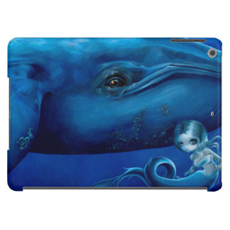 "Caja del aire del iPad de la ""ballena azul grande"" Funda Para iPad Air"