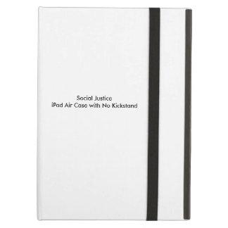 Caja del aire del iPad de la justicia social sin