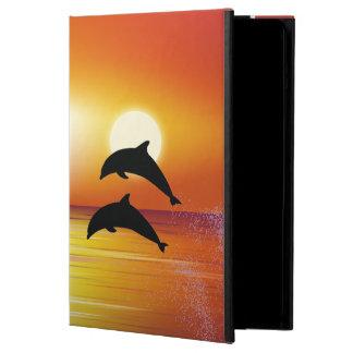Caja del aire del iPad de los pares de los delfíne